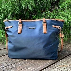 Calvin Klein Navy Blue Nylon Tote Bag